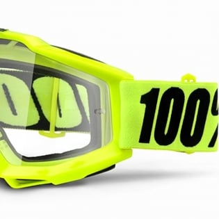 100% Accuri OTG Goggles - Fluo Yellow Clear Lens Image 4