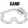 100% Accuri Sand Goggles - Fluo Yellow Smoke Lens