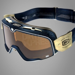 100% Barstow Classic Goggles - Raw Bronze Lens Image 3