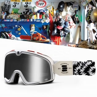 100% Barstow Classic Goggles - Death Spray Silver Lens Image 2