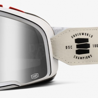 100% Barstow Classic Goggles - Death Spray Silver Lens Image 4