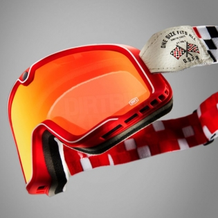 100% Barstow Classic Goggles - OSFA 2 Red Lens Image 2