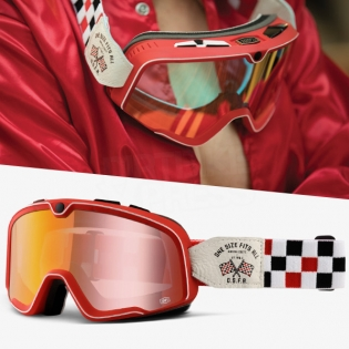 100% Barstow Classic Goggles - OSFA 2 Red Lens Image 3