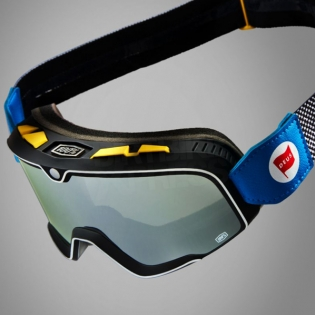 100% Barstow Classic Goggles - Deus 17 Silver Lens Image 2