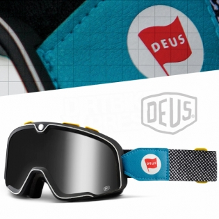 100% Barstow Classic Goggles - Deus 17 Silver Lens Image 3