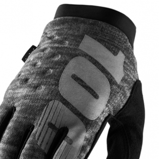100% Brisker Cold Weather Gloves - Heather Grey Image 2