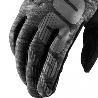 100% Brisker Cold Weather Gloves - Heather Grey Image 4