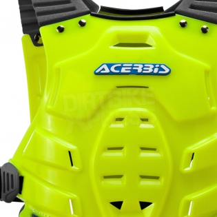 Acerbis Profile Chest Protector - Fluo Yellow Blue Image 2
