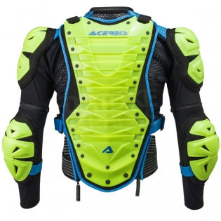 Acerbis Cosmo 2.0 Body Armour - Flo Yellow Blue Image 2