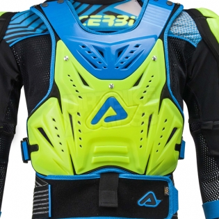 Acerbis Cosmo 2.0 Body Armour - Flo Yellow Blue Image 3