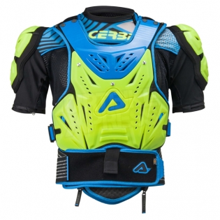 Acerbis Cosmo 2.0 Body Armour - Flo Yellow Blue Image 4