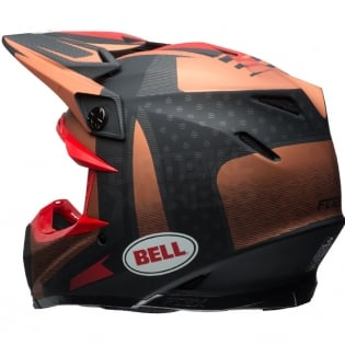 Bell Moto 9 Carbon Flex Helmet - Vice Matte Copper Black Image 2