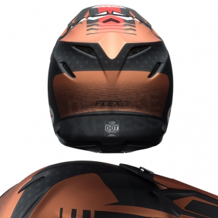 Bell Moto 9 Carbon Flex Helmet - Vice Matte Copper Black Image 3