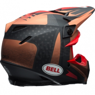 Bell Moto 9 Carbon Flex Helmet - Vice Matte Copper Black Image 4
