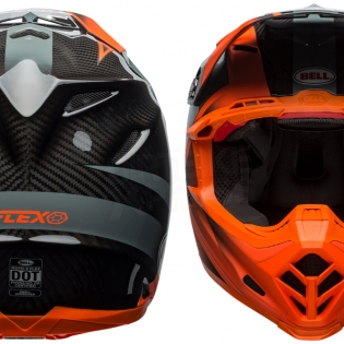 Bell Moto 9 Carbon Flex Helmet - Hound Orange Charcoal Image 2