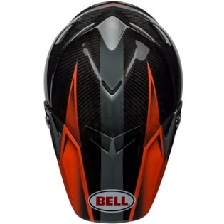Bell Moto 9 Carbon Flex Helmet - Hound Orange Charcoal Image 3