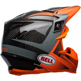 Bell Moto 9 Carbon Flex Helmet - Hound Orange Charcoal Image 4
