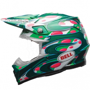 Bell Moto 9 Carbon Flex Helmet - McGrath Replica Green Image 2