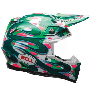 Bell Moto 9 Carbon Flex Helmet - McGrath Replica Green Image 4
