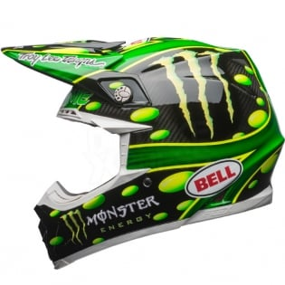 Bell Moto 9 Carbon Flex Helmet - McGrath Monster Energy Replica Image 2