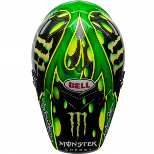 Bell Moto 9 Carbon Flex Helmet - McGrath Monster Energy Replica Image 3