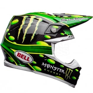 Bell Moto 9 Carbon Flex Helmet - McGrath Monster Energy Replica Image 4
