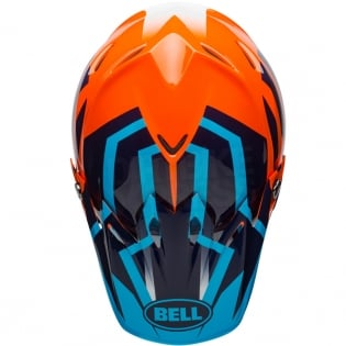Bell Moto 9 MIPS Helmet - District Blue Orange Image 3