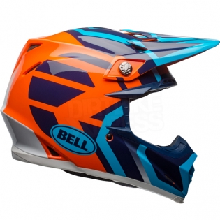 Bell Moto 9 MIPS Helmet - District Blue Orange Image 4