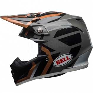 Bell Moto 9 MIPS Helmet - District Copper Black Charcoal Image 2
