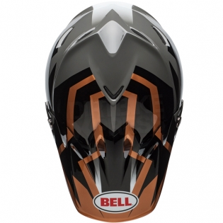 Bell Moto 9 MIPS Helmet - District Copper Black Charcoal Image 3