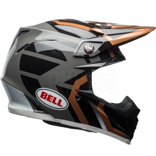 Bell Moto 9 MIPS Helmet - District Copper Black Charcoal Image 4