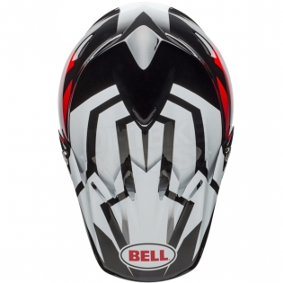 Bell Moto 9 MIPS Helmet - District White Black Red Image 3