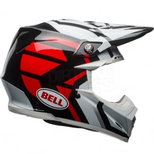 Bell Moto 9 MIPS Helmet - District White Black Red Image 4