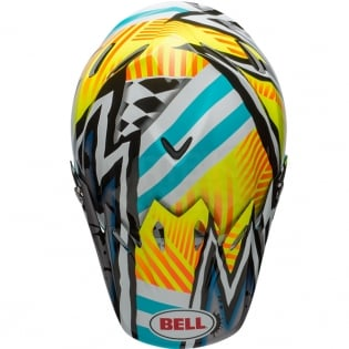 Bell Moto 9 MIPS Helmet - Tagger Asymmetric Yellow Blue White Image 3