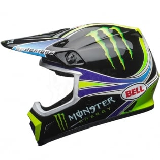Bell MX9 MIPS Helmet - Pro Circuit Monster Replica 18.0 Image 2