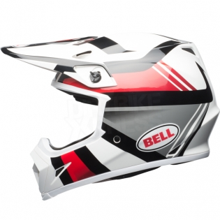 Bell MX9 MIPS Helmet - Marauder White Black Red Image 2