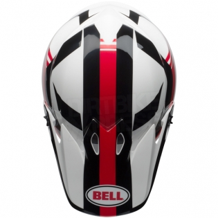 Bell MX9 MIPS Helmet - Marauder White Black Red Image 3