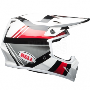 Bell MX9 MIPS Helmet - Marauder White Black Red Image 4