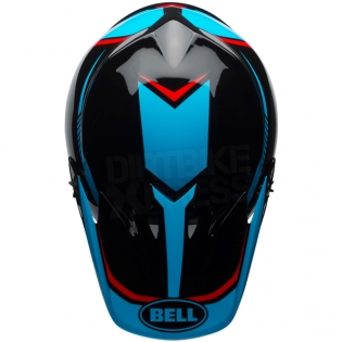 Bell MX9 MIPS Helmet - Torch Black Cyan Red Image 3