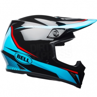 Bell MX9 MIPS Helmet - Torch Black Cyan Red Image 4