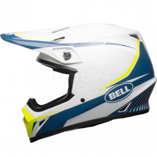 Bell MX9 MIPS Helmet - Torch White Blue Yellow Image 2