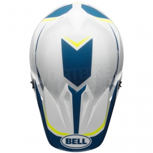 Bell MX9 MIPS Helmet - Torch White Blue Yellow Image 3