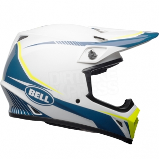 Bell MX9 MIPS Helmet - Torch White Blue Yellow Image 4
