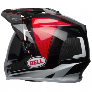 Bell MX9 MIPS Adventure Helmet - Berm Black Red White Image 2