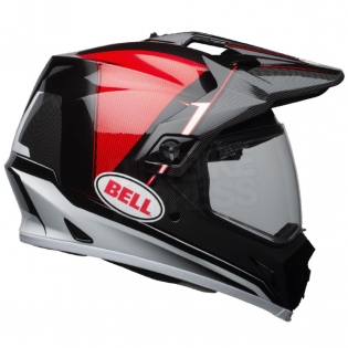 Bell MX9 MIPS Adventure Helmet - Berm Black Red White Image 3
