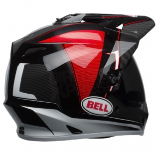 Bell MX9 MIPS Adventure Helmet - Berm Black Red White Image 4