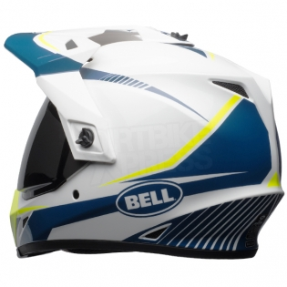 Bell MX9 MIPS Adventure Helmet - Torch White Blue Yellow Image 2
