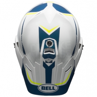 Bell MX9 MIPS Adventure Helmet - Torch White Blue Yellow Image 3