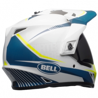 Bell MX9 MIPS Adventure Helmet - Torch White Blue Yellow Image 4
