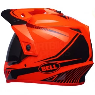 Bell MX9 MIPS Adventure Helmet - Torch Orange Black Image 2